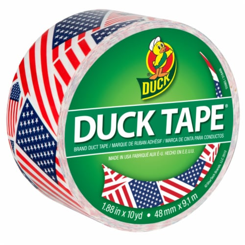 Duck® U.S. Flag Printed Duct Tape Perspective: front