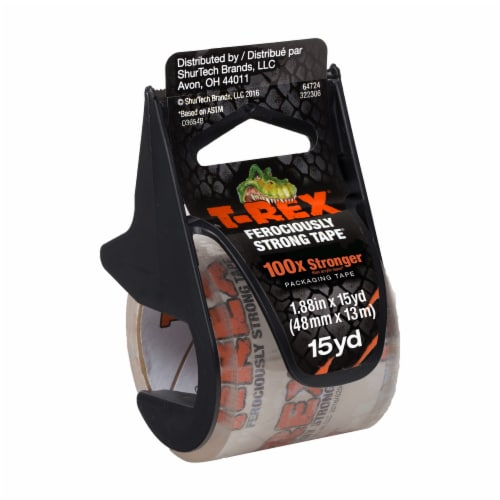 T-Rex® Packaging Tape with Dispenser - Clear Perspective: front