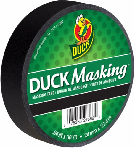 Duck® Masking Tape - Black Perspective: front