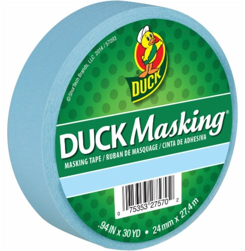Duck® Masking Tape - Light Blue Perspective: front
