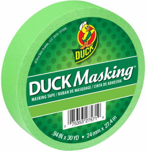 Duck® Duck Masking® Tape - Light Green Perspective: front