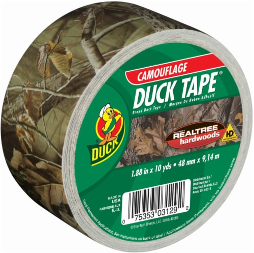 Duck® Brand Camo Print Duct Tape - Green Perspective: front