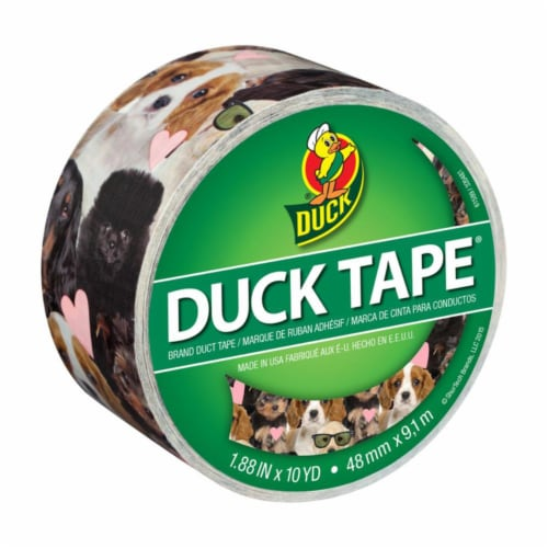 Duck® Puppy Potpourri Printed Duck Tape Perspective: front