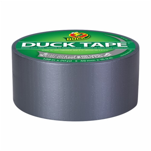 Duck® Duct Tape - Old School Silver Perspective: front