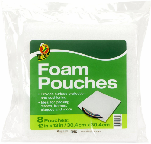 Duck® Foam Pouches - White Perspective: front