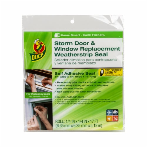 Duck® Storm Door & Window Replacement Weatherstrip Seal Perspective: front