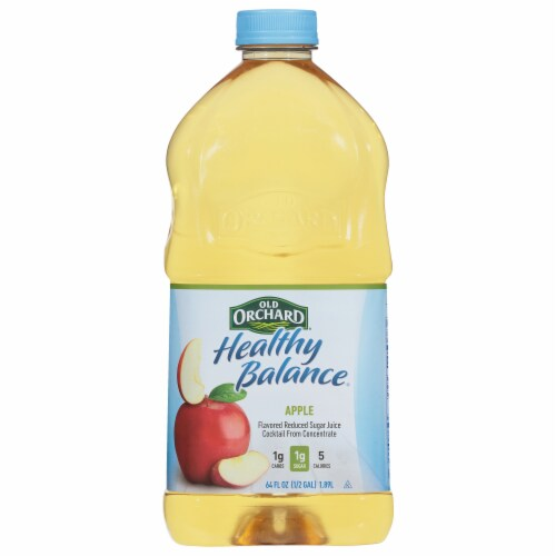 Old Orchard Healthy Balance Reduced Sugar Apple Juice Cocktail Perspective: front