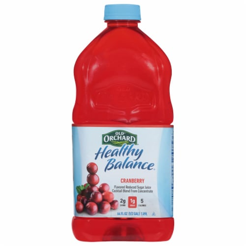 Old Orchard Healthy Balance Diet Cranberry Juice Cocktail Perspective: front