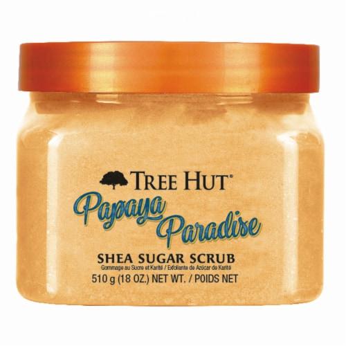 Tree Hut Papaya Paradise Shea Sugar Scrub Perspective: front