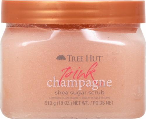 Tree Hut Pink Champagne Shea Sugar Scrub Perspective: front