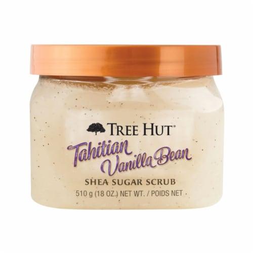 Tree Hut Tahitian Vanilla Bean Shea Sugar Scrub Perspective: front