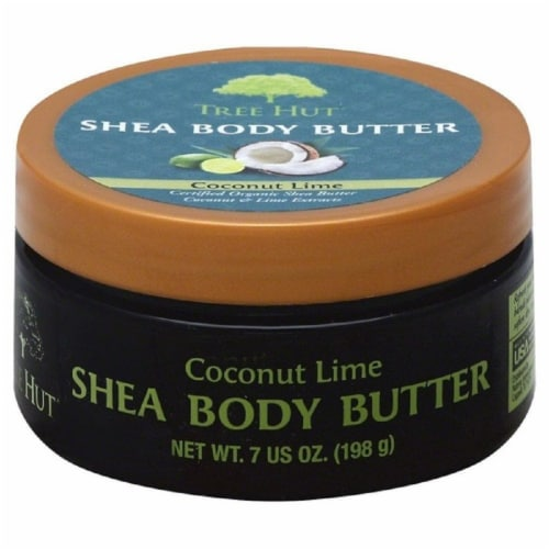 Tree Hut Coconut Lime Shea Body Butter Moisturizers Perspective: front