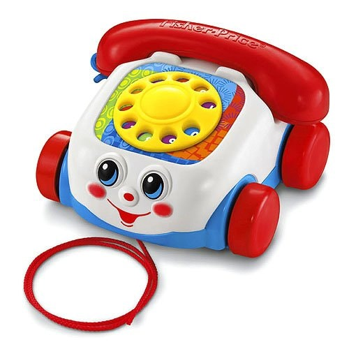 Fisher-Price Brilliant Basics Retro Chatter Telephone Perspective: front
