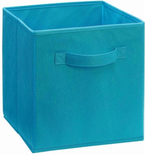 ClosetMaid Cubeicals Fabric Storage Bin - Ocean Blue Perspective: front