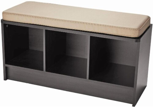 ClosetMaid® Cubeicals 3 Cube Storage Bench With Cushion   Espresso Image  Perspective: Front