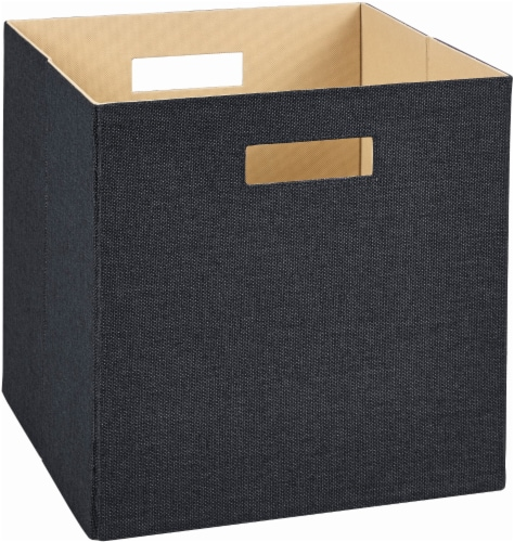 ClosetMaid Decorative Cube Storage Drawer - Black Perspective: front