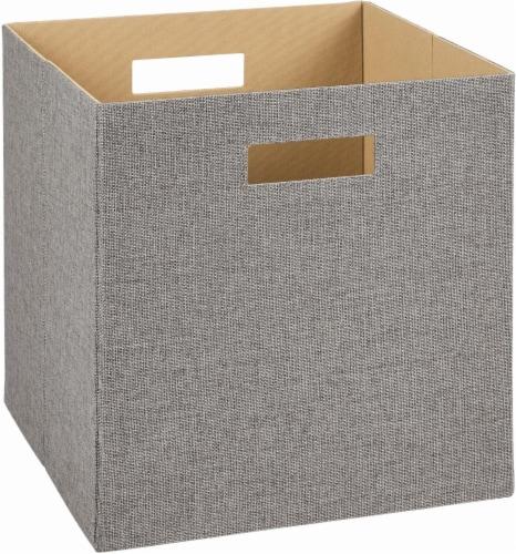 ClosetMaid Decorative Fabric Storage Bin - Gray Perspective: front
