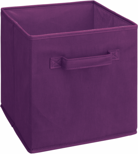 ClosetMaid Multi-Purpose Fabric Storage Bin - Purple Perspective: front