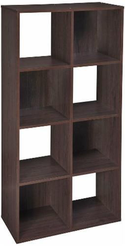 ClosetMaid Cubeicals Stackable 8-Cube Organizer - Espresso Perspective: front