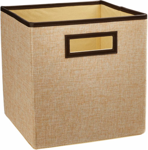 ClosetMaid Decorative Storage Fabric Bin - Creme Brulee Perspective: front