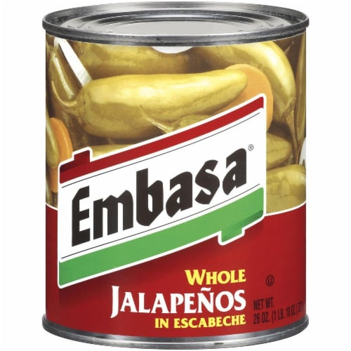 Embasa Whole Jalapenos in Escabeche Perspective: front