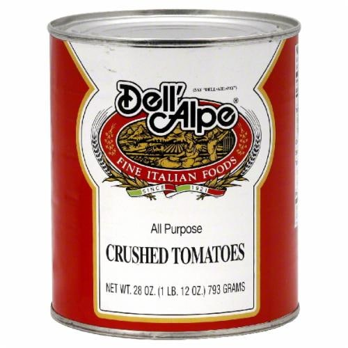 Dell'Alpe Crushed Tomatoes Perspective: front