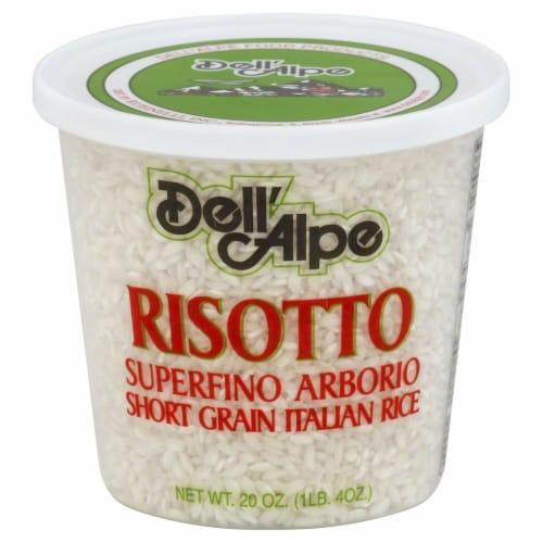 Dell'Alpe Risotto Superfino Arborio Short Grain Italian Rice Perspective: front