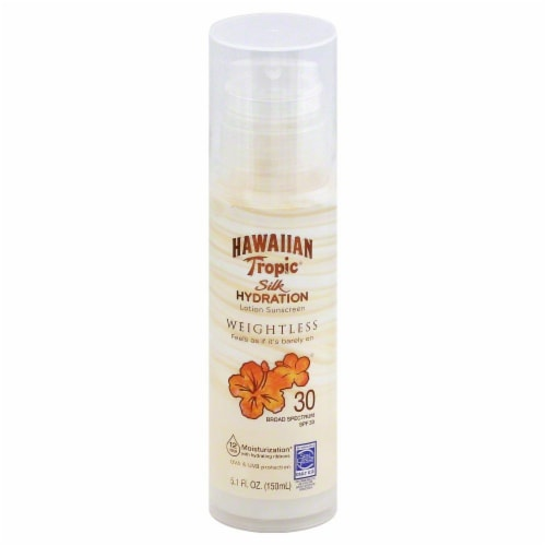 Hawaiian Tropic Silk Hydration Weightless Lotion SPF 30 Perspective: front