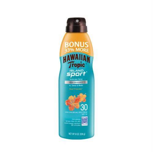 Hawaiian Tropic Island Sport SPF 30 High Endurance Sunscreen Spray Perspective: front