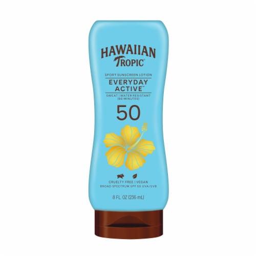 Hawaiian Tropic Island Sport Ultra Light Tropical Scent Sunscreen SPF 50 Perspective: front