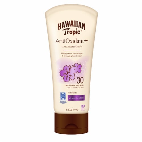 Hawaiian Tropic AntiOxidant+ SPF 30 Sunscreen Lotion Perspective: front