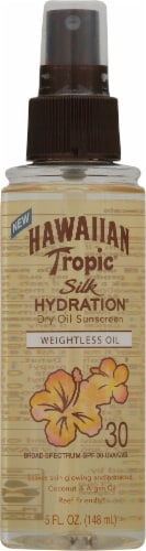 Hawaiian Tropic Silk Hydration Dry Oil Sunscreen SPF 30 Perspective: front