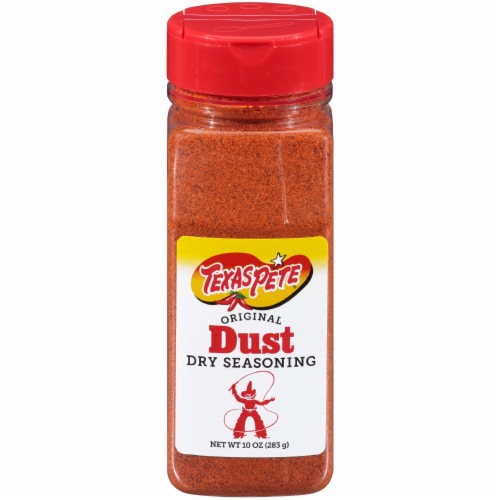 Texas Pete Original Dust Dry Seasoning Perspective: front