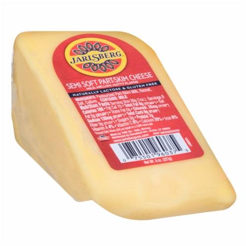 Jarlsberg Semi Soft Part-Skim Wedge Cheese Perspective: front