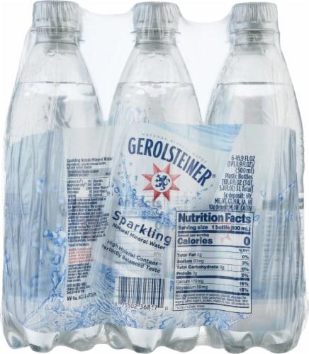 Gerolsteiner Sparkling Natural Mineral Water Perspective: front
