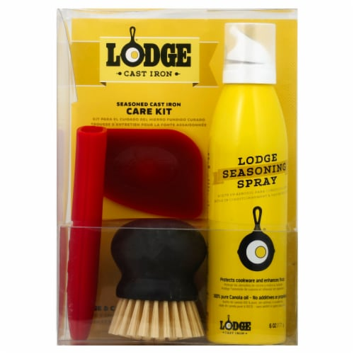 Lodge Seasoned Cast Iron Care Kit Perspective: front