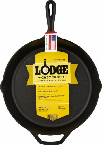 Lodge Cast Iron Skillet - Black Perspective: front
