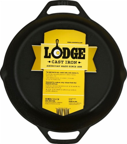 Lodge Round Cast Iron Pan Perspective: front