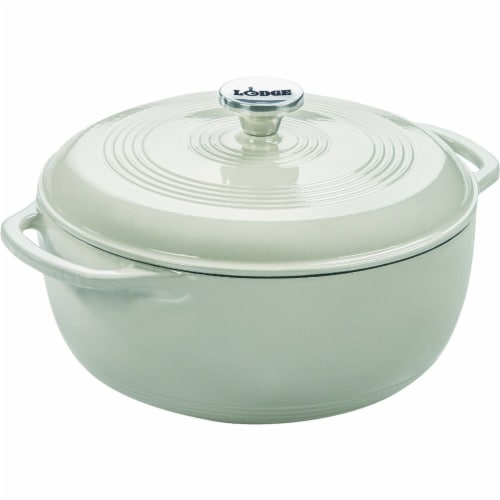 Lodge Dutch Oven with Lid - Oyster Perspective: front