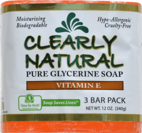 Clearly Natural Pure Glycerine Soap Perspective: front