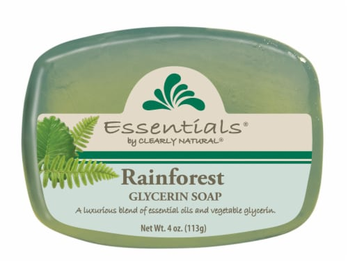Clearly Natural Essentials Rainforest Glycerin Soap Perspective: front