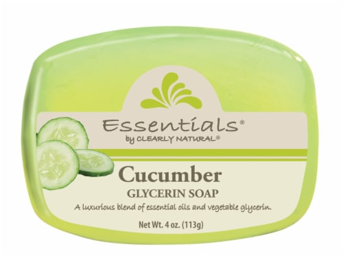 Clearly Natural Essentials Cucumber Glycerin Soap Perspective: front