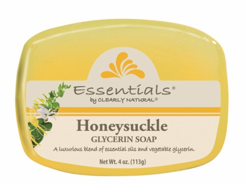Clearly Natural Essentials Honeysuckle Glycerin Soap Perspective: front