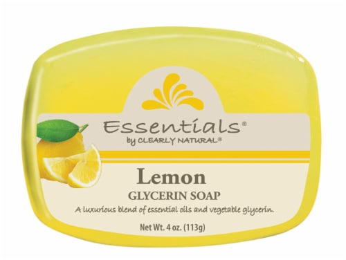 Clearly Natural Essentials Lemon Glycerin Soap Perspective: front