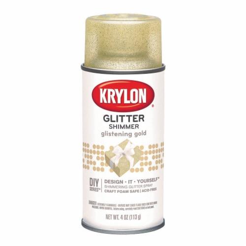 Krylon® Glitter Shimmer Spray - Glistening Gold Perspective: front