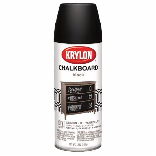 Krylon® Chalkboard Spray Paint - Black Perspective: front