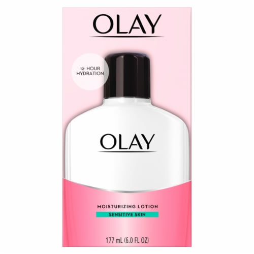 Olay Moisturizing Face Lotion for Sensitive Skin Perspective: front