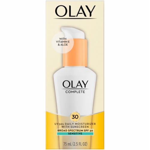 Olay Complete UV360 Sensitive Daily Moisturizer with SPF 30 Perspective: front