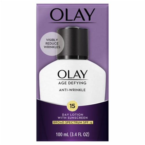 Olay Age Defying Anti-Wrinkle Day Face Lotion with Sunscreen SPF 15 Perspective: front