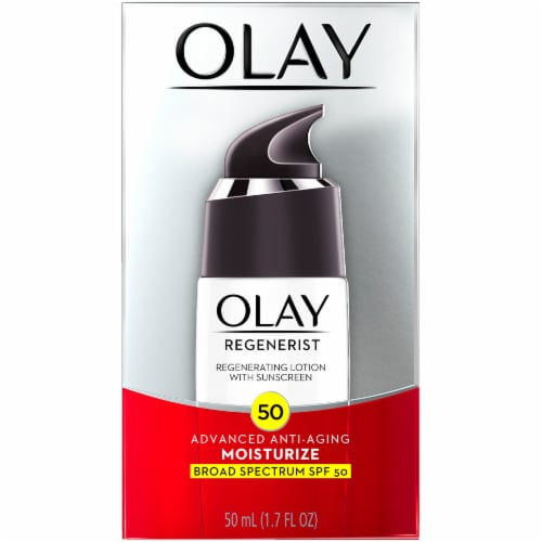 Olay Regenerist Moisturize Advanced Anti-Aging Regenerating Face Moisturizer Lotion with SPF 50 Perspective: front